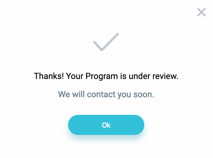 Program Review Dialog